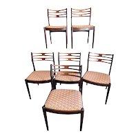 Set of 6 Mid Century Modern Vamo Sonderborg Chairs