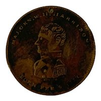 Important William Henry Harrison Political Presidential Pioneer Campaign Medal
