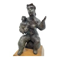 Mother's Pride Bronze Sculpture by Chaim Gross