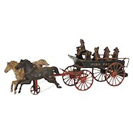 Ives Cast Iron Toy - Fire Patrol Wagon