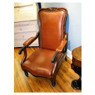 Fine Leather Victorian Office Chair - Adjustable