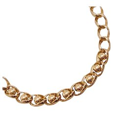 Bold, Stylish Vintage Sperry Goldtone Chain Necklace