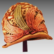 Very Rare Exquisite and Chic Flapper Cloche Hat ca 1920s