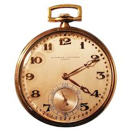 Spectacular 18K Gold Vacheron Constantin Pocket Watch ca 1920's