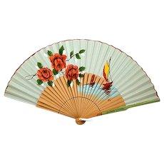 Beautiful Big, Colorful, Vintage Spanish Fan