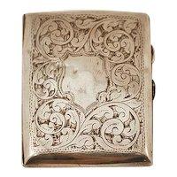 ca 1918 WJ Myatt Sterling Silver .925 Sterling Silver English Card Case 90 gms