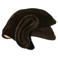 Glamorous I. Magnin Black Velour Matador Hat