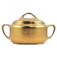 "ca 1912-18 Pickard China ""All Over Gold"" glazed Sugar Bowl"