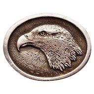 "Rare Vintage ""Pilgrim Pewter"" By Sid Bell American Bald Eagle Belt Buckle"