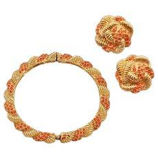 Classic 1960s Hattie Carnegie Bracelet and Earrings Set