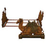 Rare and Beautiful Judd Company Camel Cast Iron Book Rack ca.1920