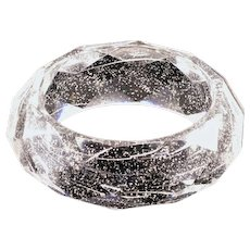 Classic Retro Lucite and Glitter Bangle