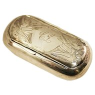 Antique Romantic Sterling Silver .925 Swedish Vanity Box ca 1908 Over 55 gms.