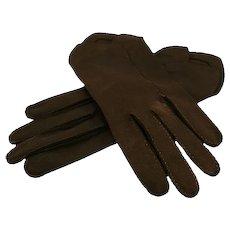 ca late '40s Crescendoe Black Cotton Gloves, Size 7