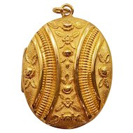 Beautiful and Unusually Large Antique Gold-Filled Locket
