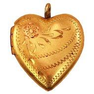Sweet Sentimental Very Vintage 10k Gold-Filled Heart Locket