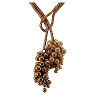 Stunning Hattie Carnegie Necklace with Grape Bunch Motif