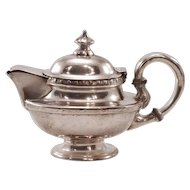 Historic Gotham Hotel NY Vintage International Silver Soldered Teapot