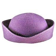 Exquisite Vintage Bloomingdale's Betmar Purple Straw Hat