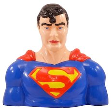 It's a Bird, It's a Plane, It's a Vintage Enesco Superman Ceramic Bank!