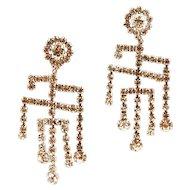 Gorgeous Rhinestone Chandelier Earrings