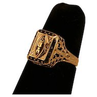 1929 10K White Gold St. Joan of Arc Class Ring Gorgeous!