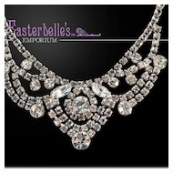 Glamorous Festoon White Rhinestone Necklace