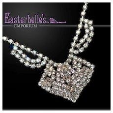 Sparkling, Sexy Vintage Rhinestone Necklace