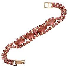 Precious Pink Rhinestone Vintage Bracelet