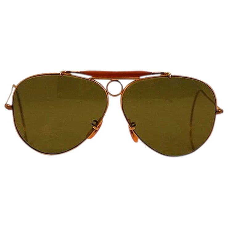 3c9e4abd7f748f ... get rare early 1970s bl ray ban 1 10 12k gold filled shooter sunglasses  5f158 2849c ...