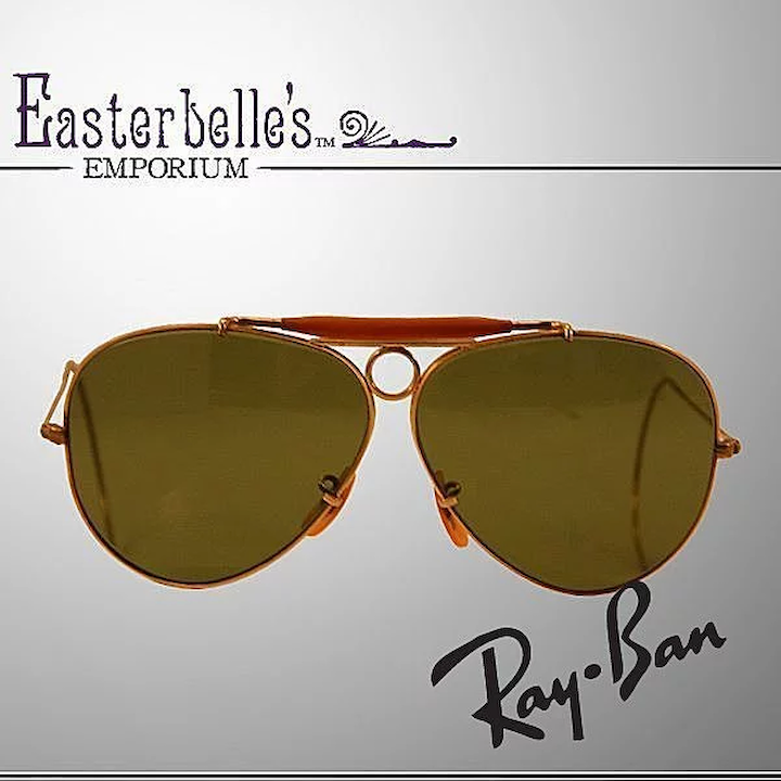 66488ca37b Rare early 1970 s B L Ray Ban 1 10 12K Gold-Filled Shooter Sunglasses    Easterbelle s Emporium