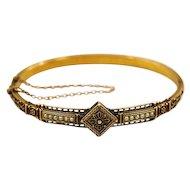 15K Solid Gold Etruscan Revival Bracelet in Original Box