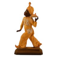 Rare and Highly Collectible Signed Rosenthal Sculpture by Hugo Meisel, Blackamoor Food Server