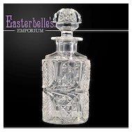 Antique American Brilliant Cut Glass Scent Bottle