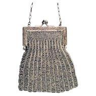 Victorian Era Cut-Steel Amazing Beaded Handbag