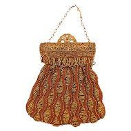 Amazing Victorian Beaded Bag - Beautiful Rich Color