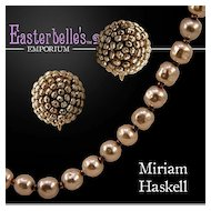 Gorgeous Miriam Haskell Necklace and Earrings Set