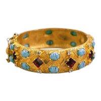 Glorious Hattie Carnegie Thermoplastic Rhinestone Bracelet