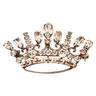 Mid-Century Carl-Art Sterling Silver .925 Big Beautiful Crown Brooch