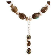 Beautiful OOAK Susan Davison Labradorite Necklace
