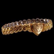 """Darling Vintage Child's 14K Gold-Filled Expandable """"Sweetheart"""" Bracelet"""