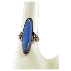 Fun and Funky Vintage Sterling Silver Ring With Great Details