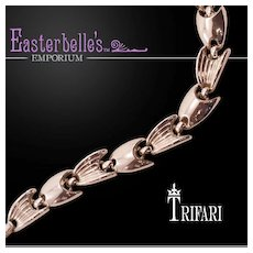 Stylish Crown Trifari Silver-Tone Bracelet