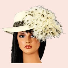 One of a Kind Vintage Jack McConnell Feather and Wool Hat
