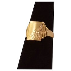 Classic Beauty Vintage 9K Gold Fully Hallmarked Signet Ring