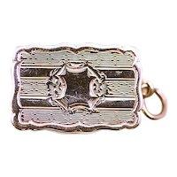 ca 1864 George Unite Sterling Silver Vinaigrette Scent Box with Original Screen