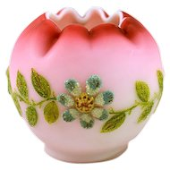 Lovely Antique Signed Webb Coralene Vase