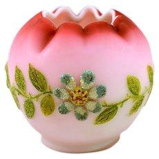 Lovely Antique Signed Webb Coralene Vase