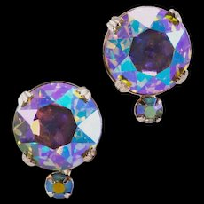 BIG, Blingy Vintage Vogue Co. AB Rhinestone Earrings