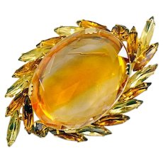 Sparkling Sunburst Vintage Brooch - Great Size!